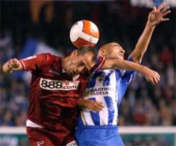 2 a 1 derrota ante el Deportivo de la Coruña